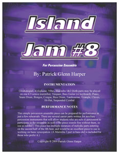 Island Jam #8 for Percussion Ensemble
