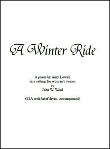 A Winter Ride Thumbnail