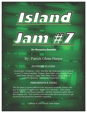 Island Jam #7 for Percussion Ensemble