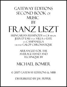 Second Book of Music of Franz Liszt