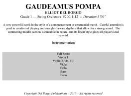 Gaudeamus Pompa