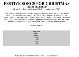 Festive Songs of Christmas