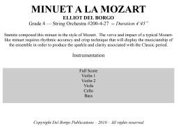 Minuet a la Mozart