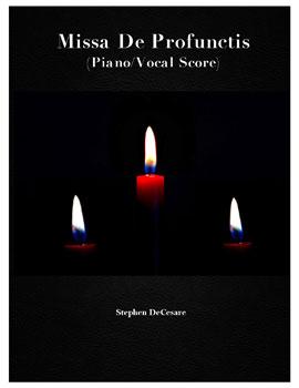 Missa De Profunctis Piano/Vocal Score