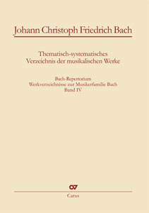 Bach Repertorium, Vol. 4 - Johann Christoph Friedrich Bach