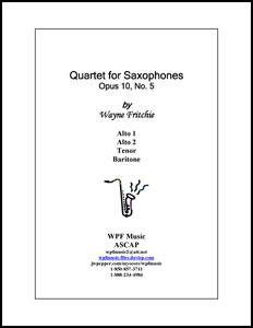Quartet for Saxophones Opus 10 No. 5
