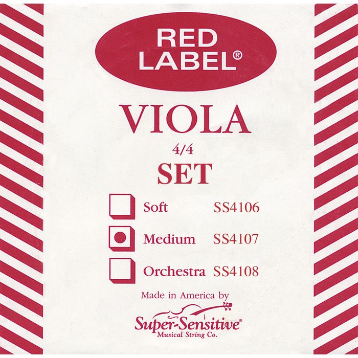 Super Sensitive Red Label Viola Strings