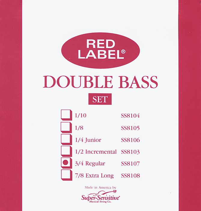 Super Sensitive Red Label String Bass Strings