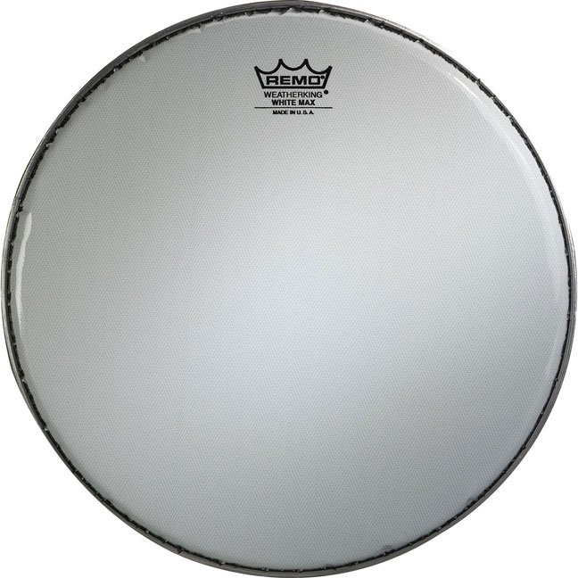 Remo White Max Crimped Marching Snare Drum Heads