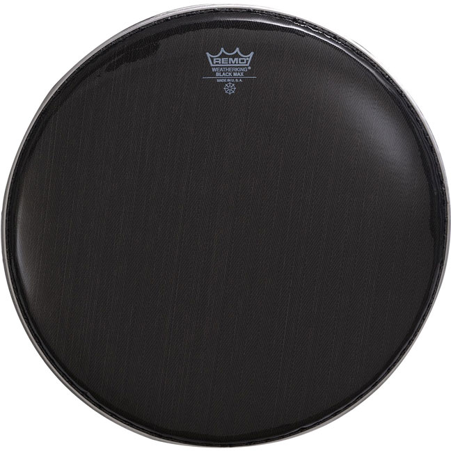 Remo Black Max Crimped Marching Snare Drum Heads