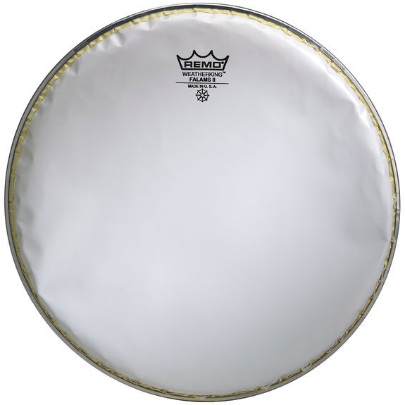 Remo Marching Snare Side Falams II Smooth White Drum Heads, Crimped