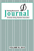 String Research Journal #3 2012