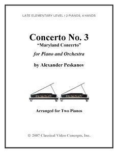 Concerto No.3 (Maryland Concerto) for Piano and Orchestra