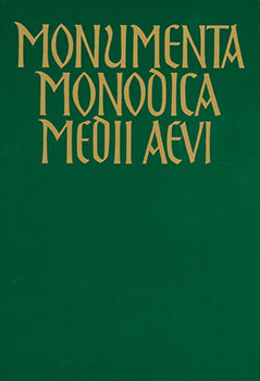 Monumenta Mondica Medii Aevi, Subsidia Vol. V