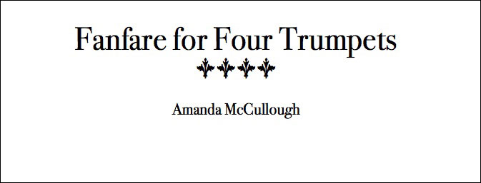 Fanfare for Four Trumpets