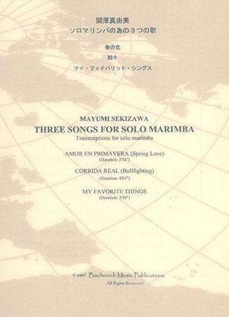 Three Songs for Solo Marimba