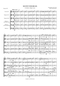 Brass Sextet #2 Scherzo Allegro Vivace