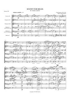 Brass Sextet #3 Andante Cantabile