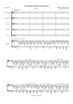 Cantique de Jean Racine Opus 11