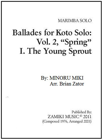 Ballades for Koto Solo #2 Spring I The Young Sprout