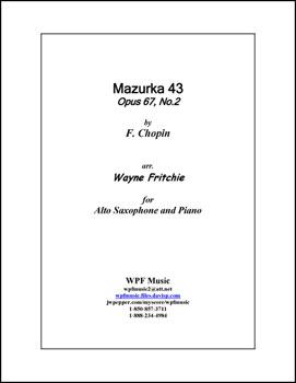 Mazurka 43, Opus 67, No. 2