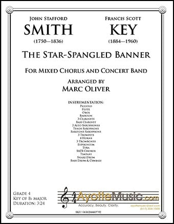 The Star Spangled Banner for SATB Choir and Band