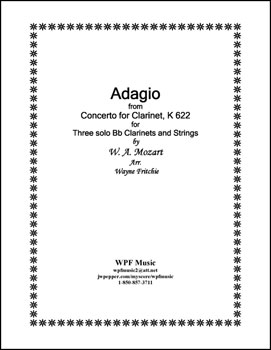 Adagio for Three Bb Clarinets and Strings K 622