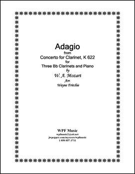 Adagio for Three Bb Clarinets and Piano K 622