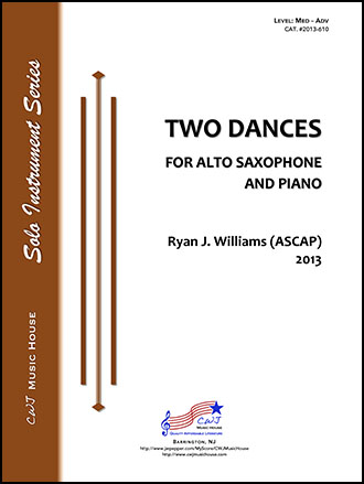 Two Dances for Alto Saxophone and Piano