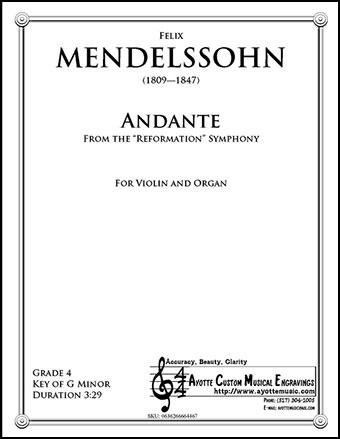 Mendelssohn's Reformation Symphony, II. Andante