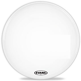 Evans MX2 White Marching Bass Drum Head