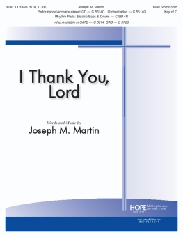 I Thank You, Lord