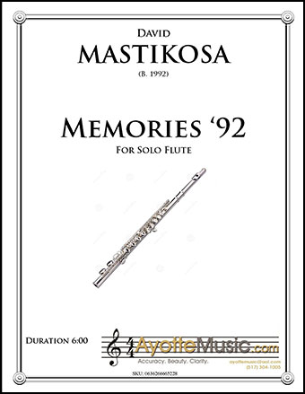 Memories '92 for Solo Flute