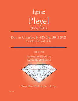 Duo in C Major B. 525 Op. 39 (1792)