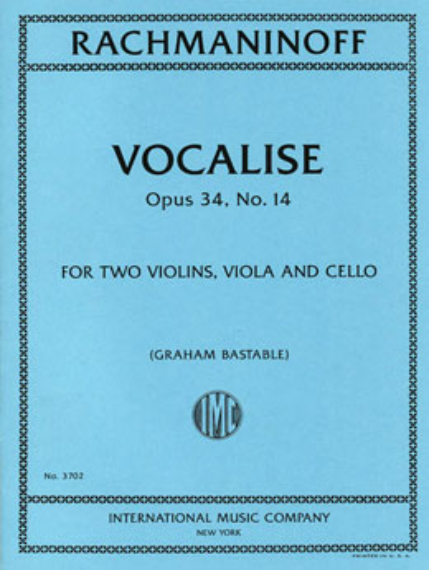 Vocalise, Op. 34, No. 14