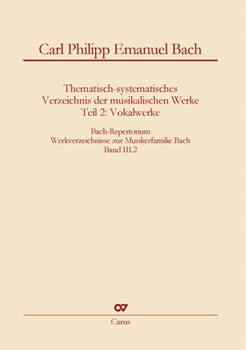 Bach Repertorium, Vol. 3/2 - C.P.E. Bach Cover