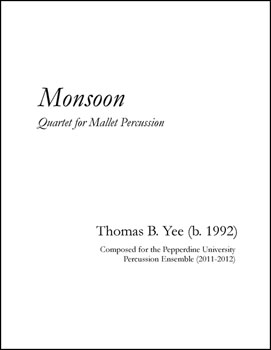 Monsoon for Mallet Quartet