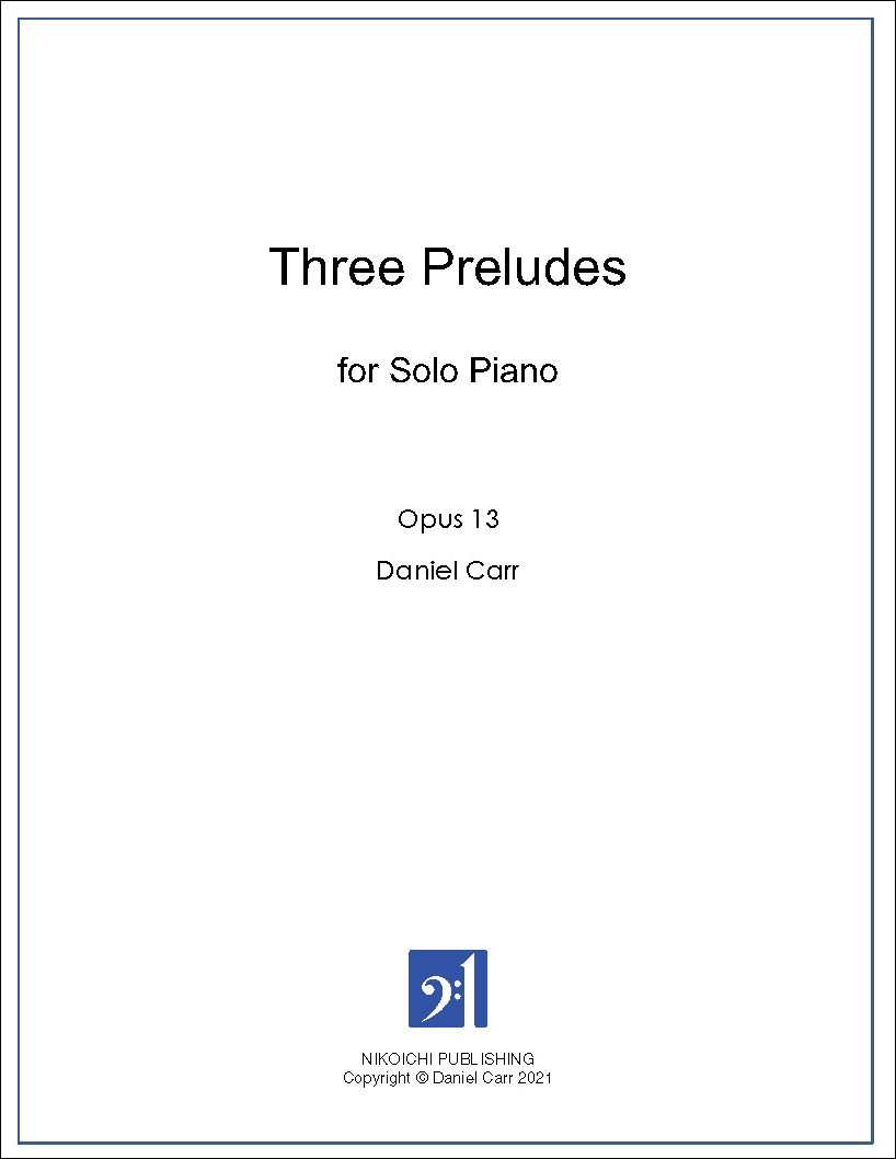 Three Preludes for Solo Piano