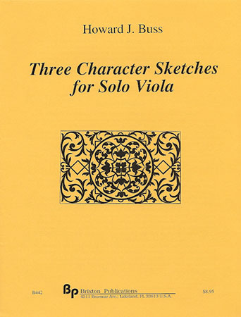 Three Character Sketches for Solo Viola