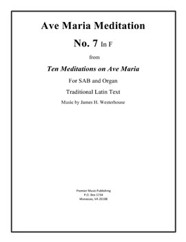 Ave Maria Meditation No. 7