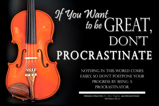 Procrastinate Poster Cover