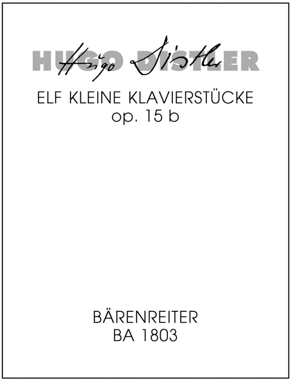 11 kleine Klavierstuecke fuer die Jugend, Op. 15b
