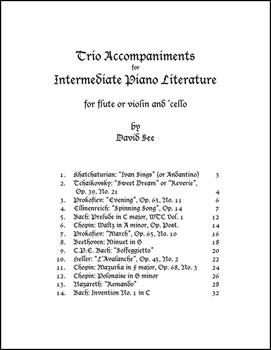 Trio Accompaniments for Intermediate Piano Literature
