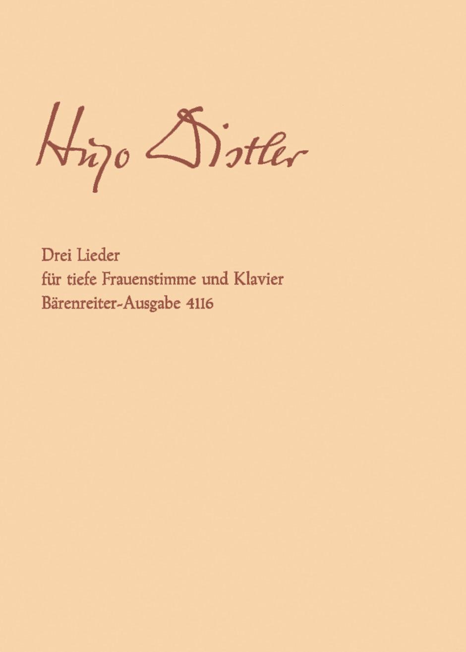 Drei Lieder nach Gedichten von Paul Brockhaus, Op. post.