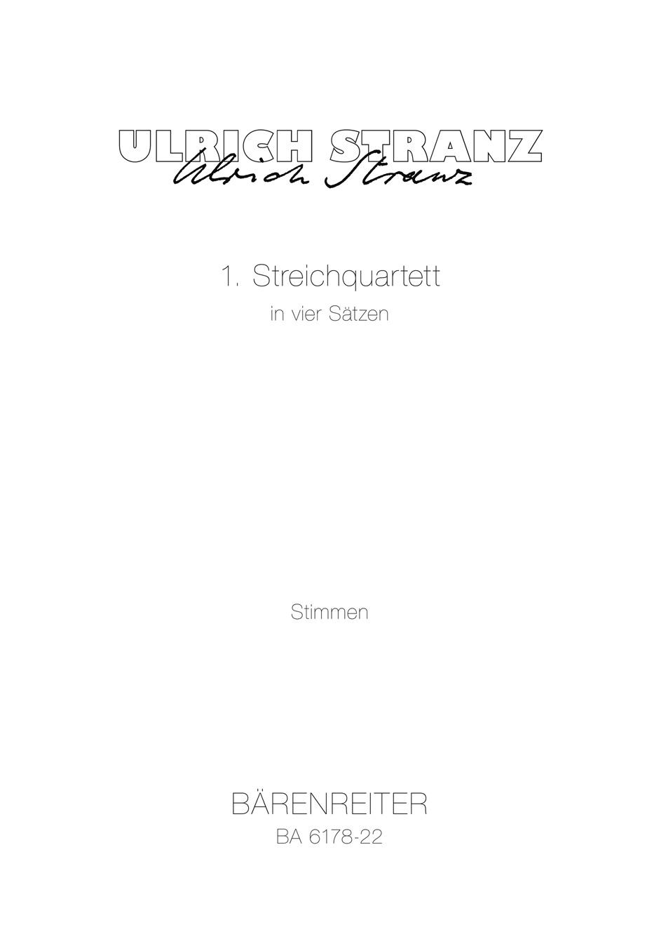 1. Streichquartett in vier Satzen
