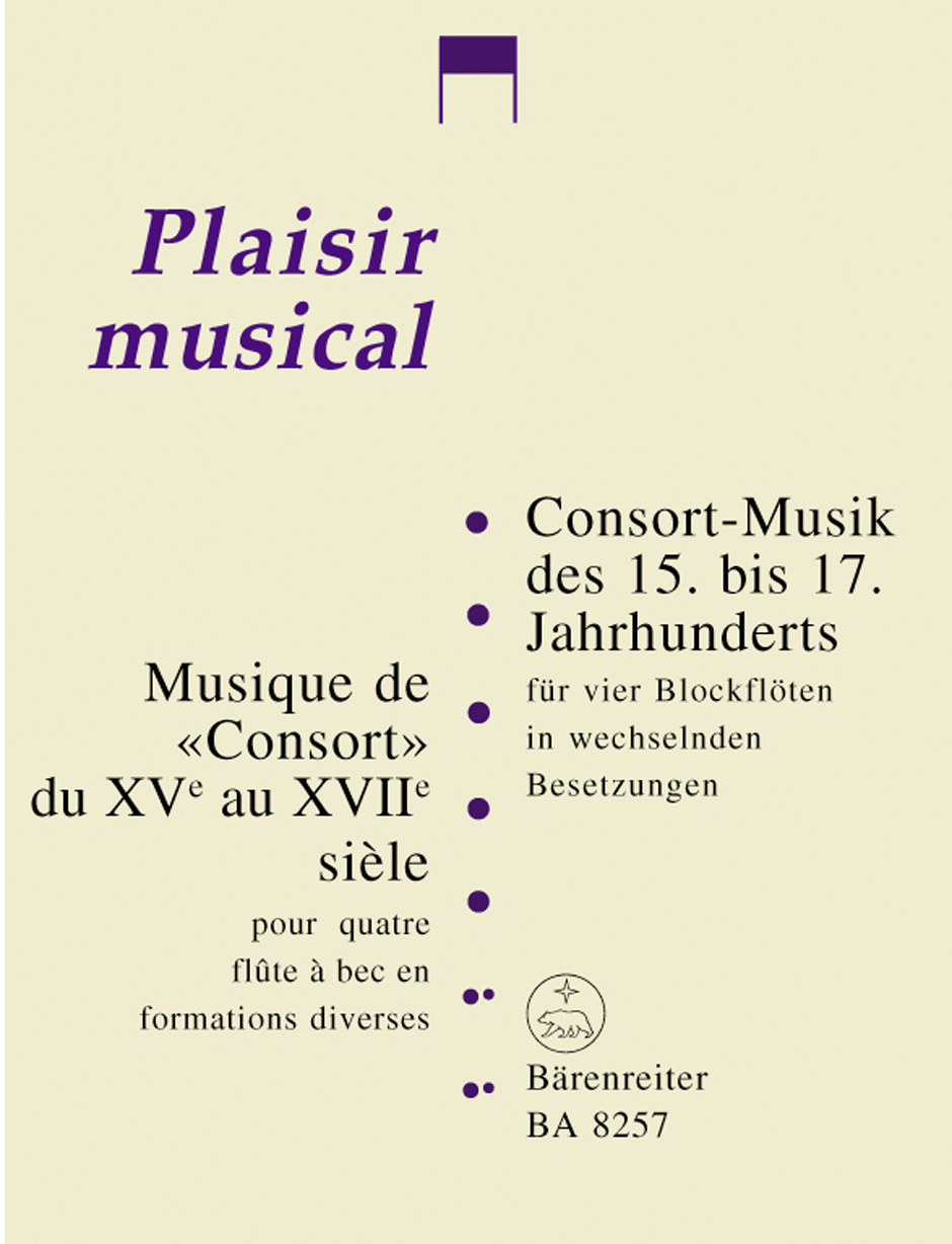 Consort Music of the 15th 17th Centuries for Four Recorders in Variable Instrumentation