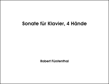 Sonata for Piano, 4 Hands