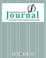 String Research Journal, No. 4 2013