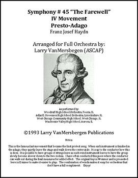 Haydn Symphony #45 Finale (Presto-Adagio)