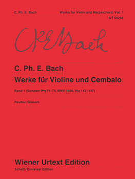 Work for Violin and Harpsichord, Vol. 1